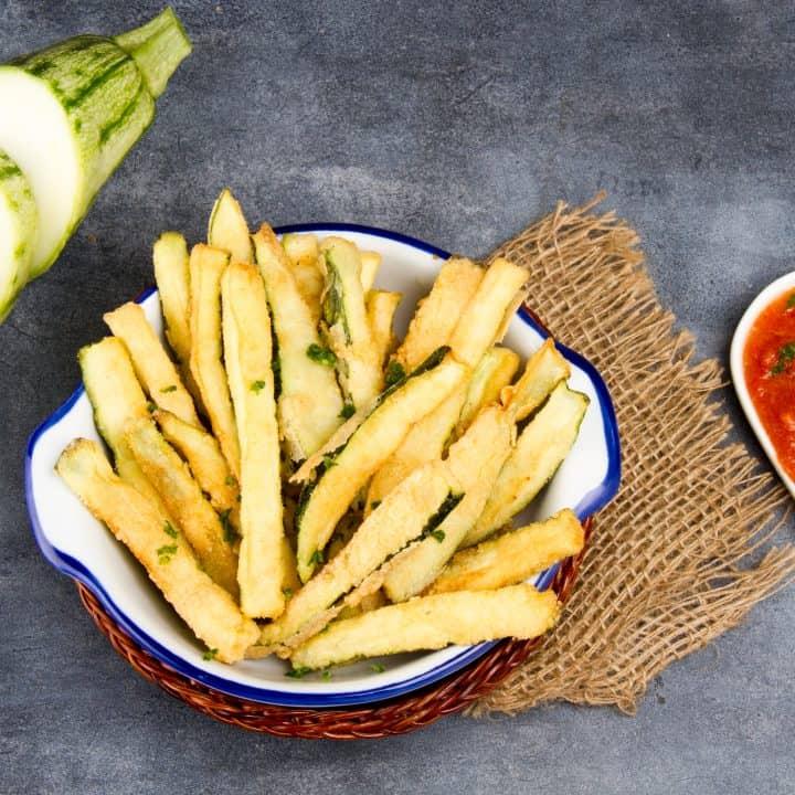 Crispy Keto Zucchini Fries