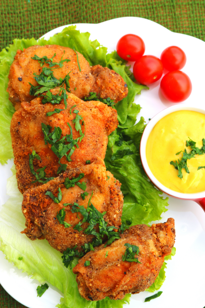 low carb fried chicken thighs