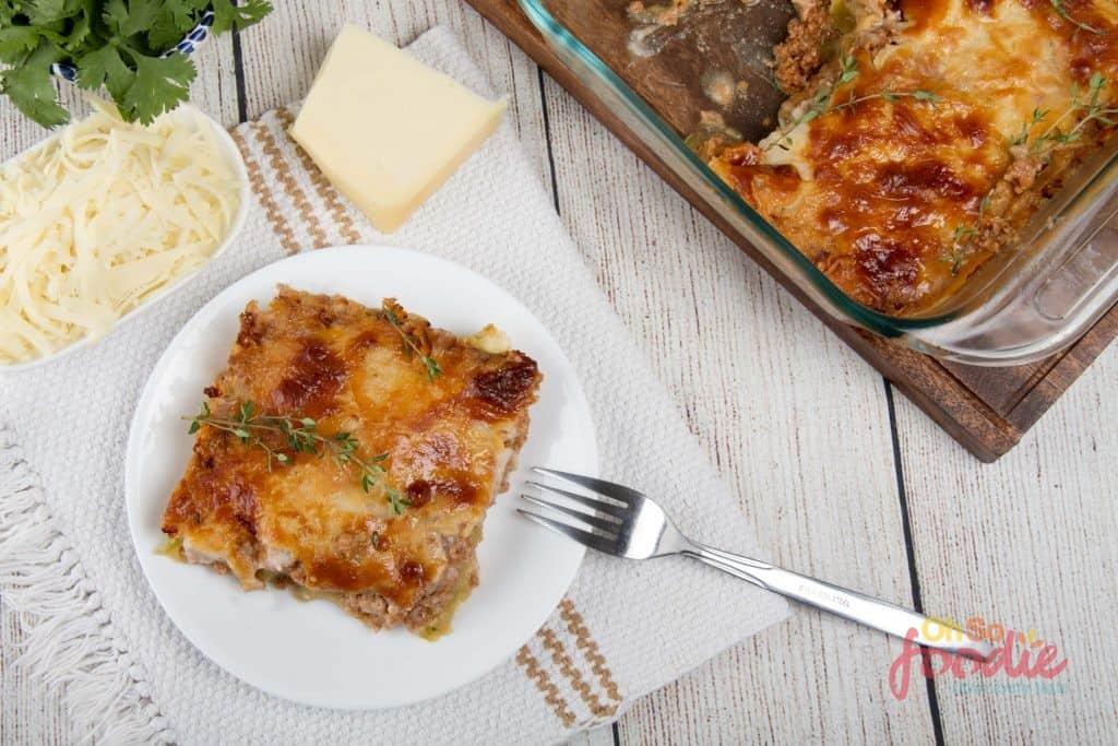 ketogenic zucchini lasagna