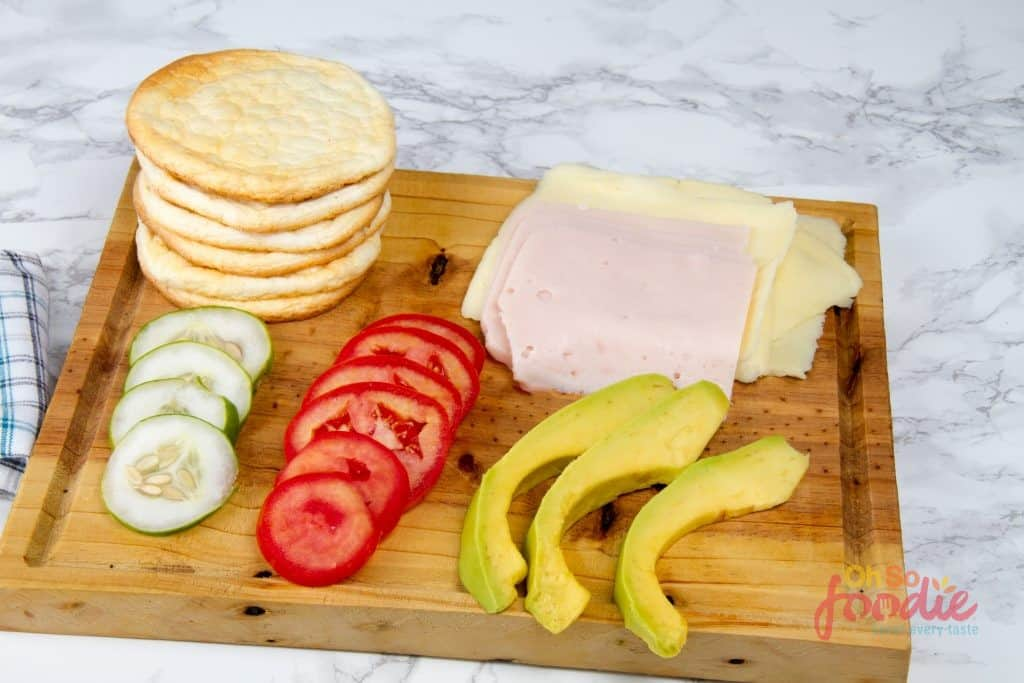 ingredients for keto sandwich