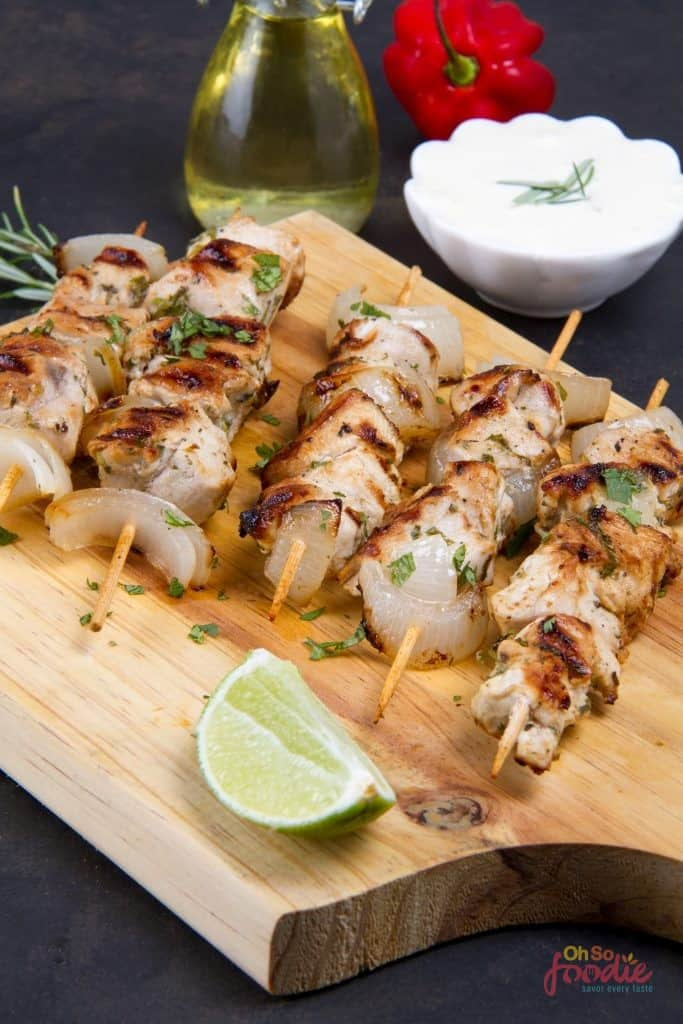 low carb chicken skewers