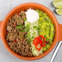 Low Carb Taco Salad  - Easy Ground Beef Recipe