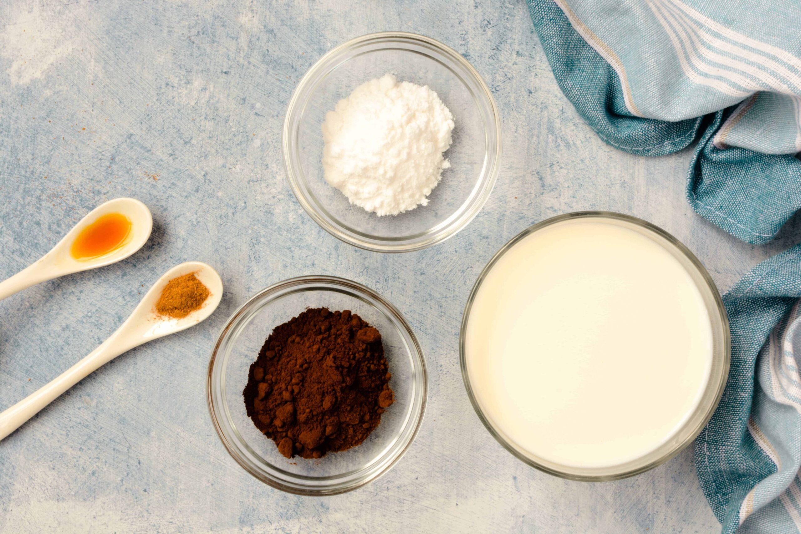 ingredients for keto chocolate milk