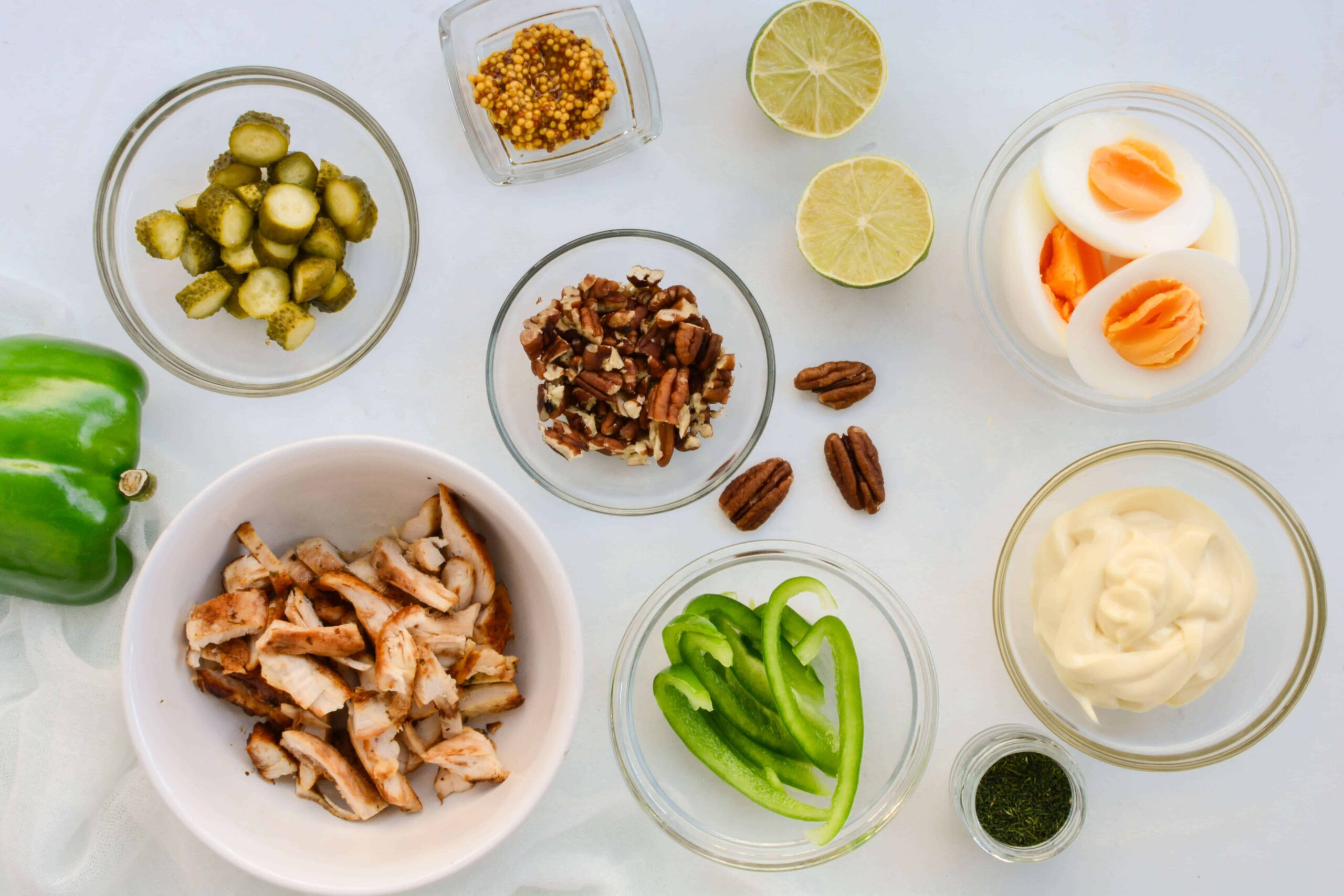 ingredients for low carb chicken salad