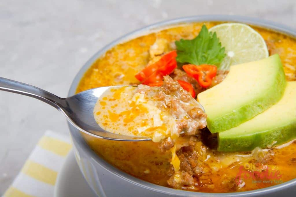 keto taco soup recipe