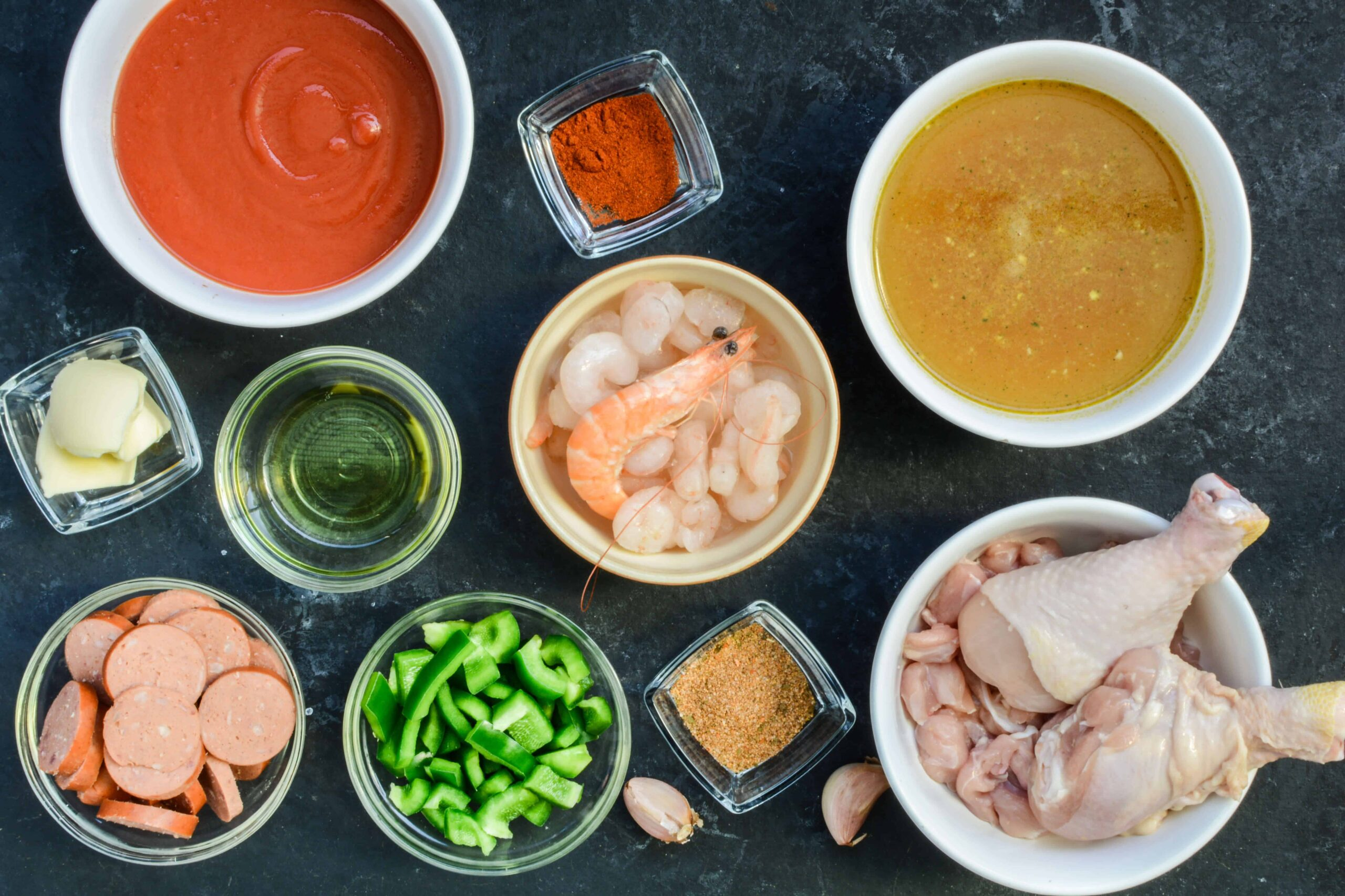 ingredients for low carb gumbo