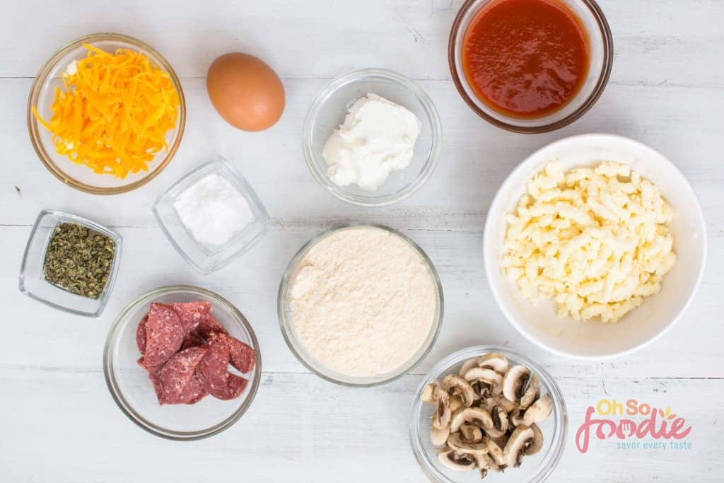 sheet pan pizza ingredients