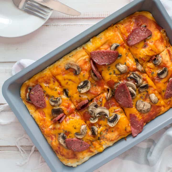 Keto Sheet Pan Pizza Recipe