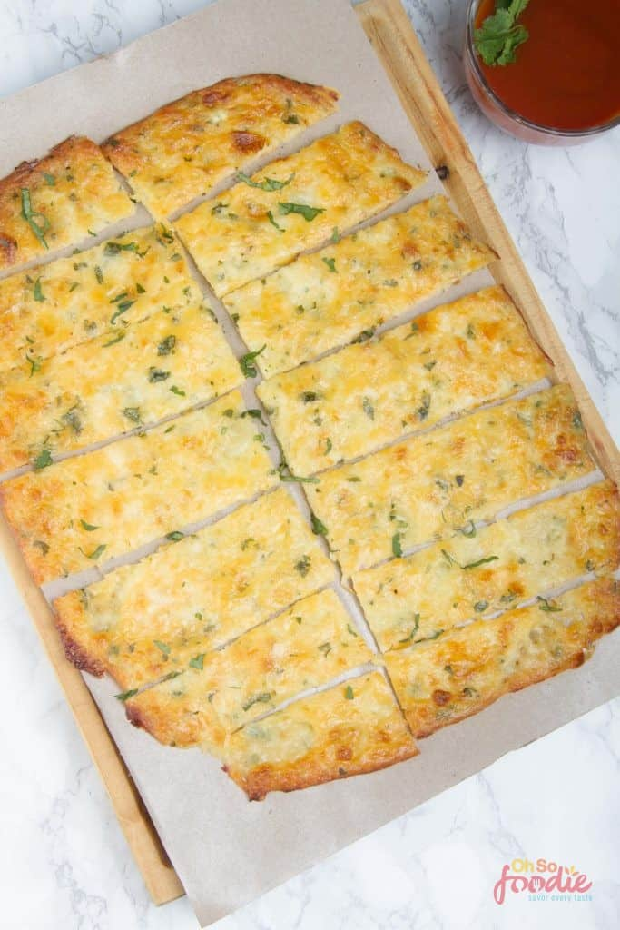 low carb cheesy breadsticks