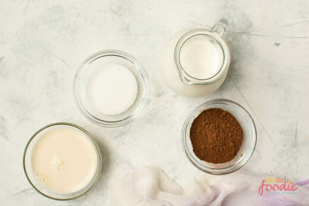 ingredients to make keto hot cocoa