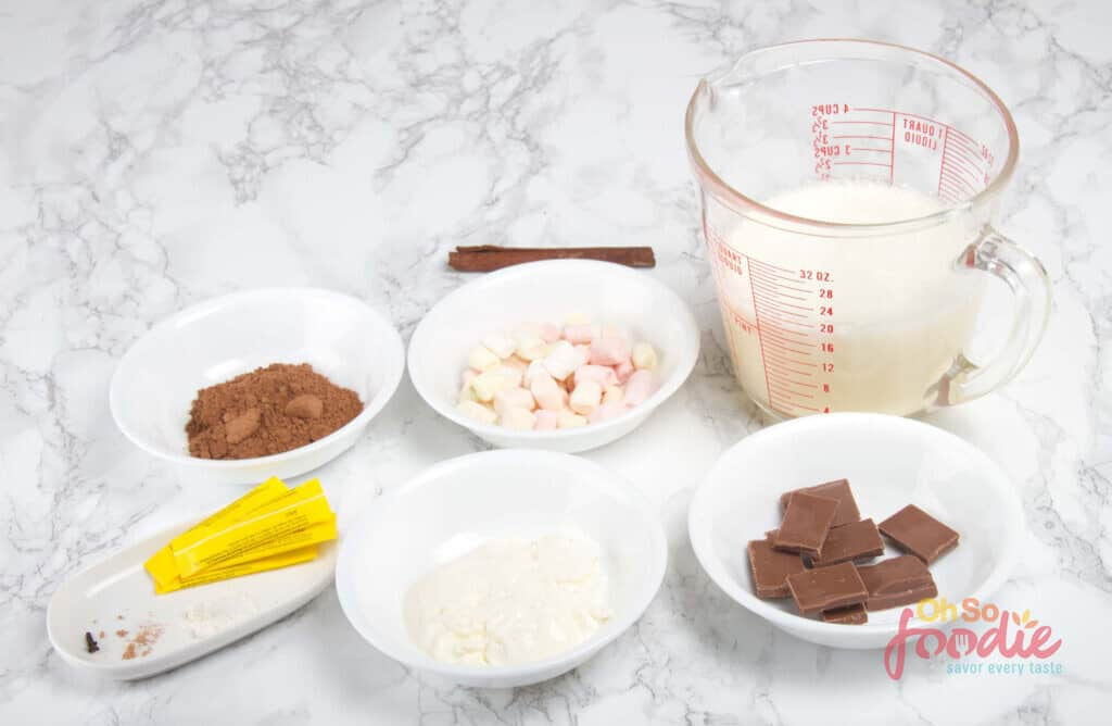 ingredients for keto hot chocolate