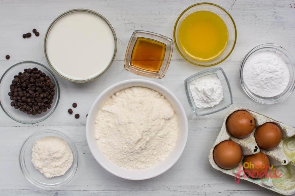 ingredients for ketp sheet pan pancakes