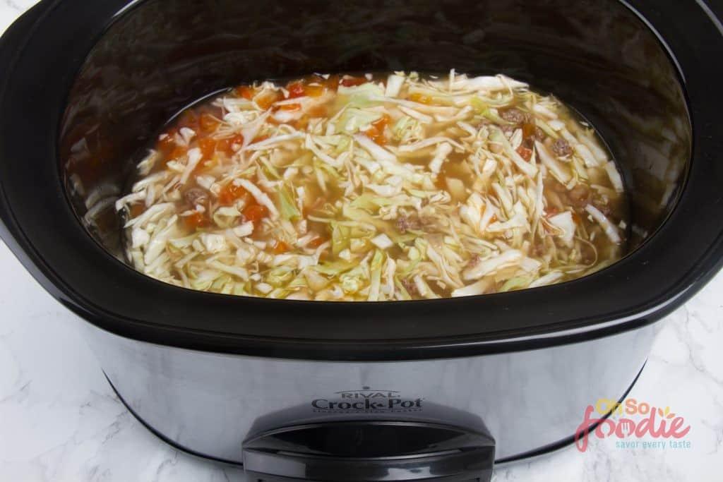 slow cooker low carb hamburger soup