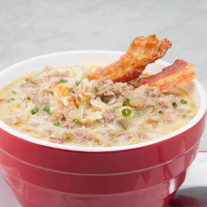 Slow Cooker Keto Hamburger Soup With Cream Cheese And Rotel