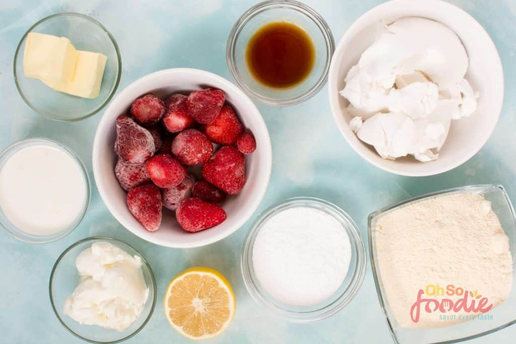 ingredients for keto cheesecake