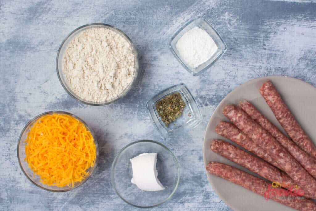 sausage balls ingredients keto