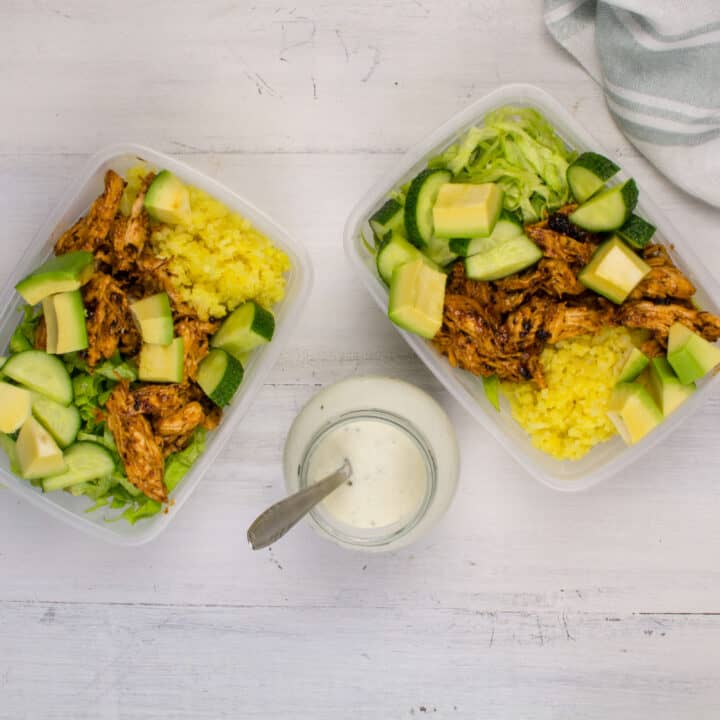 Keto Meal Prep Chicken Bowls - Easy Keto Meal Prep Lunches