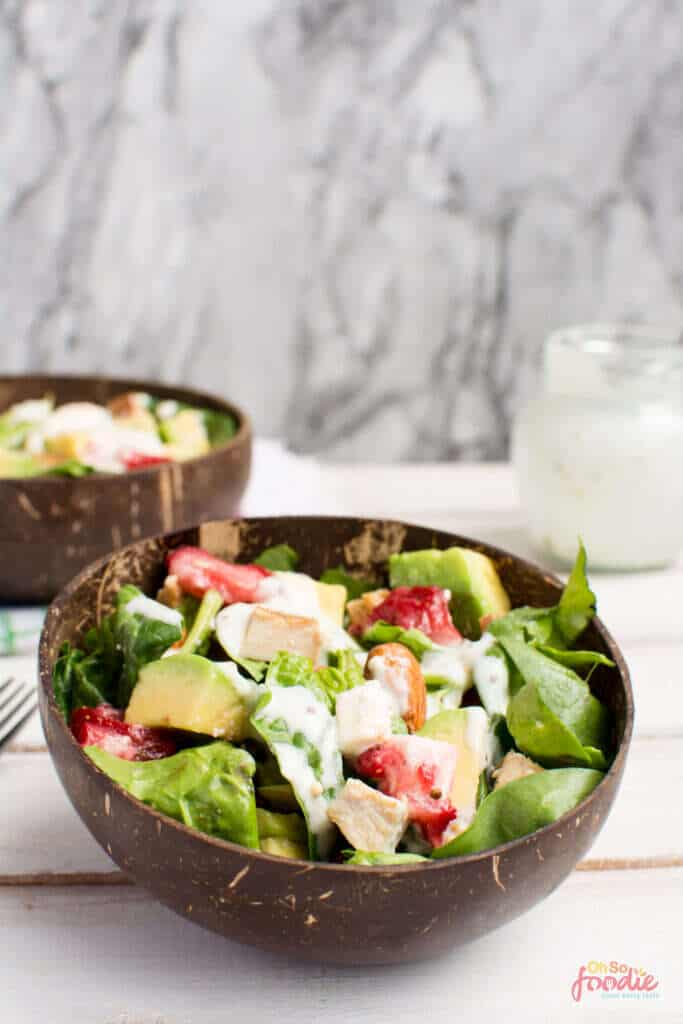 low carb Strawberry Spinach Salad