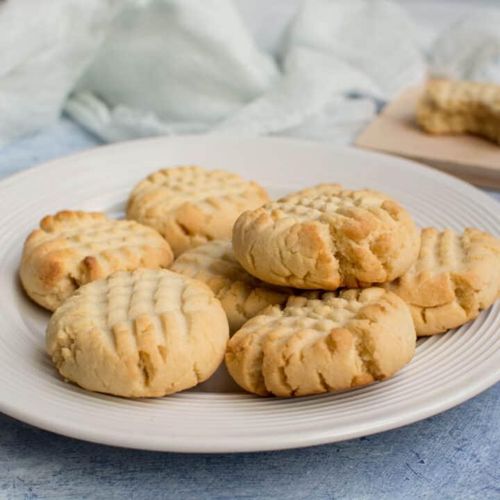 Keto Butter Cookies (Just 4 Ingredients!)