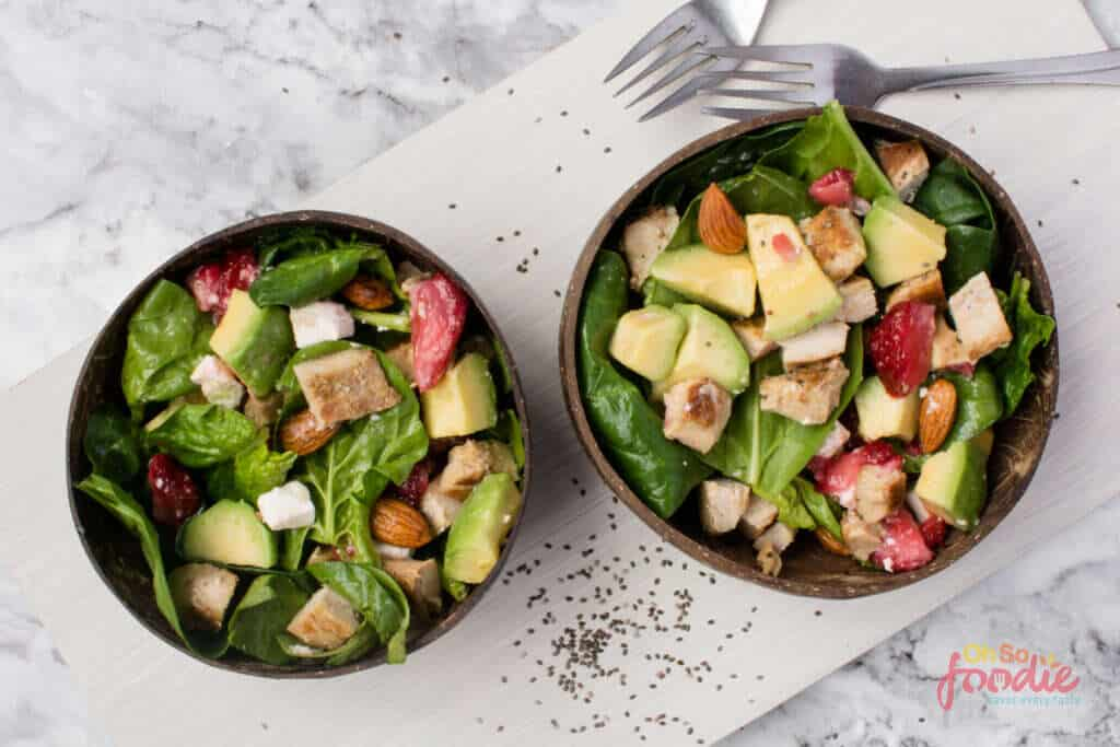 Keto Strawberry Spinach Salad