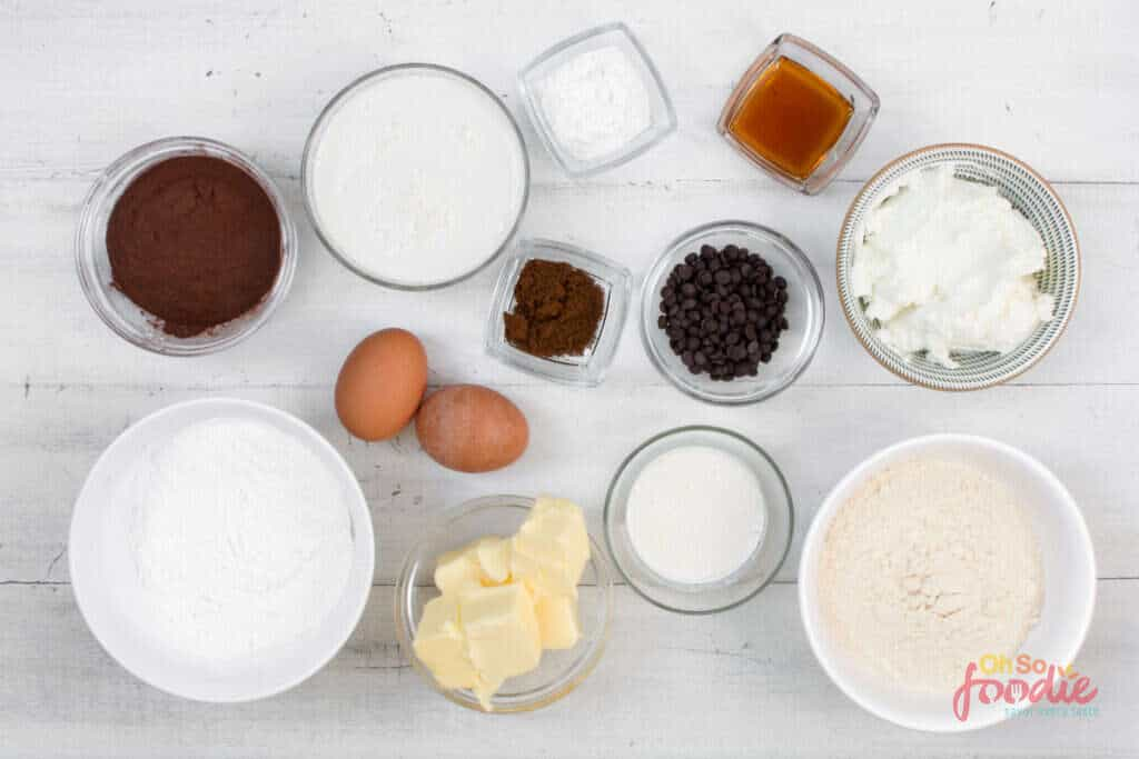 ingredients for keto chocolate cake