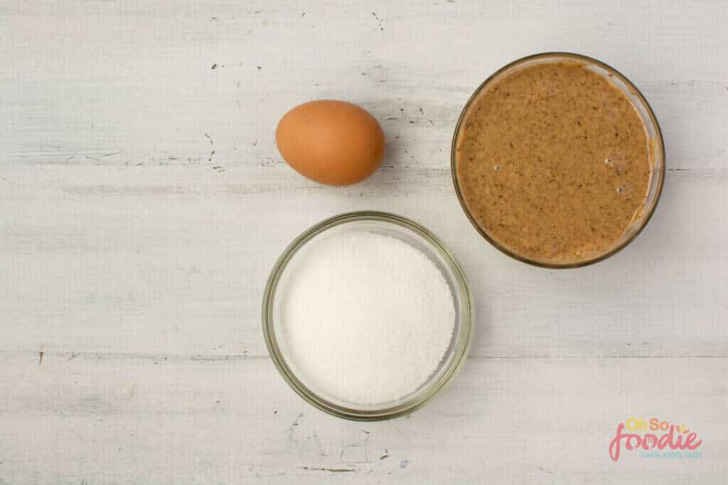 ingredients for almond butter cookies
