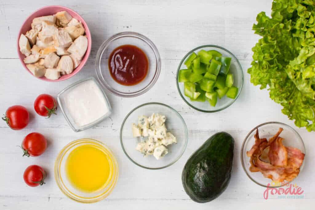ingredients to make buffalo chicken salad