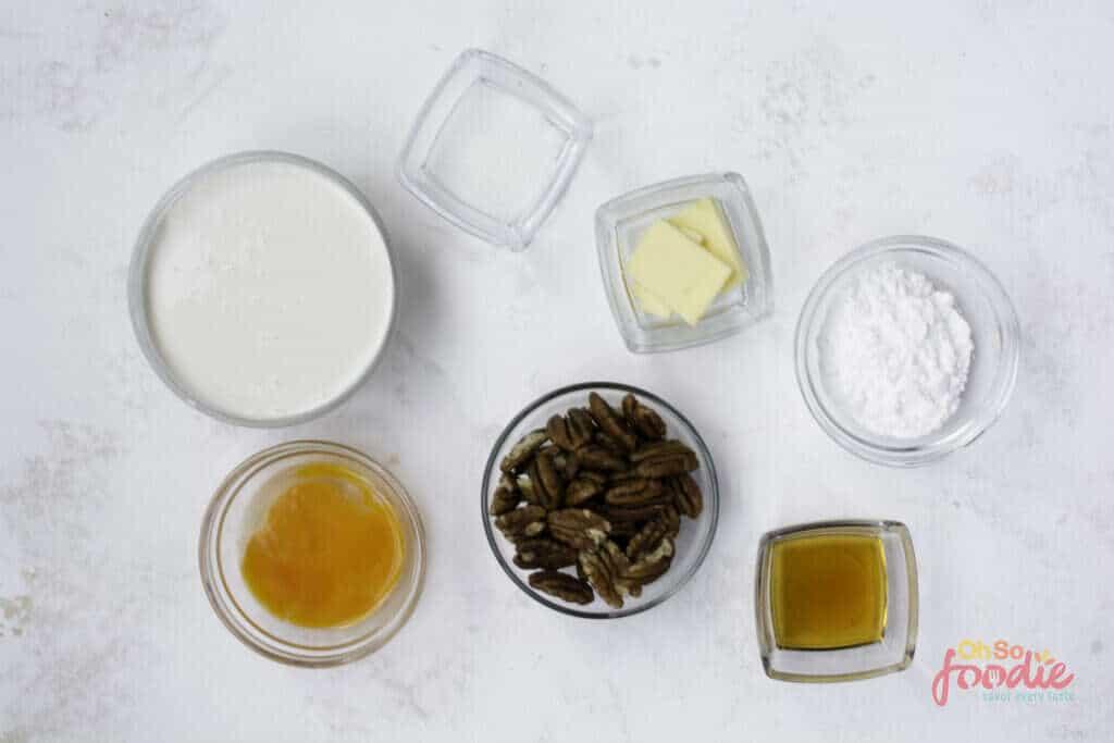 ingredeints to make butter pecan ice cream