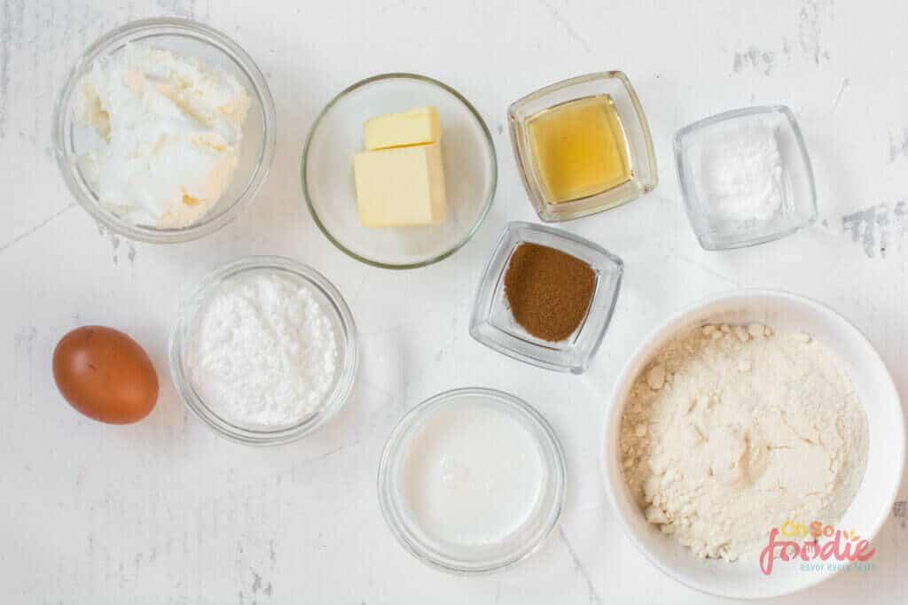 ingredients to make keto muffins