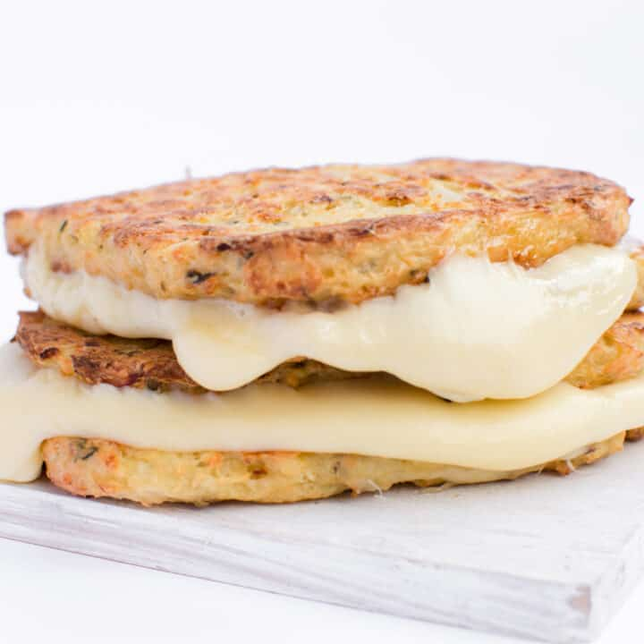 Keto Grilled Cheese Made Cauliflower Bread