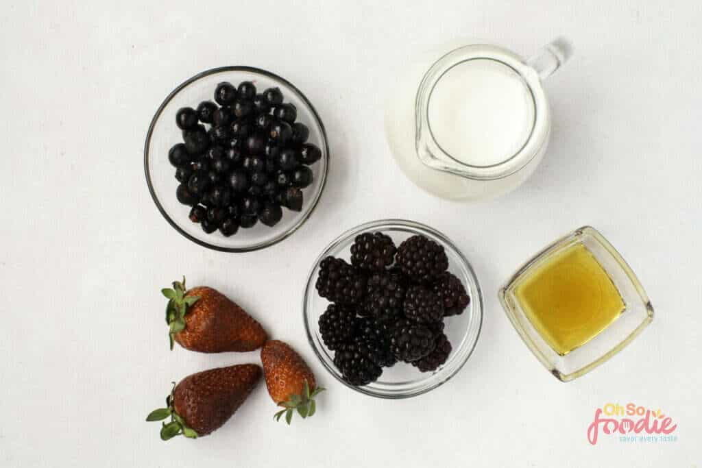 ingredients for keto smoothie