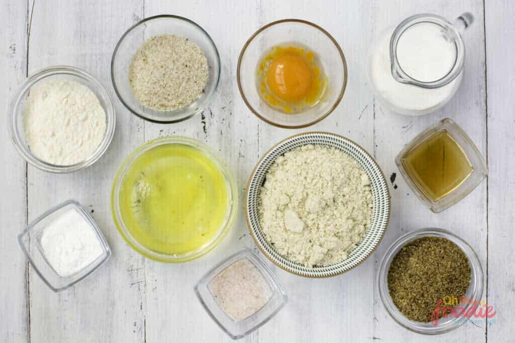 ingredients to make sourdough bread