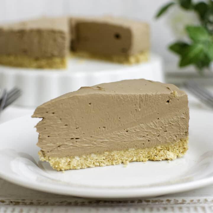 No Bake Keto Chocolate Cheesecake