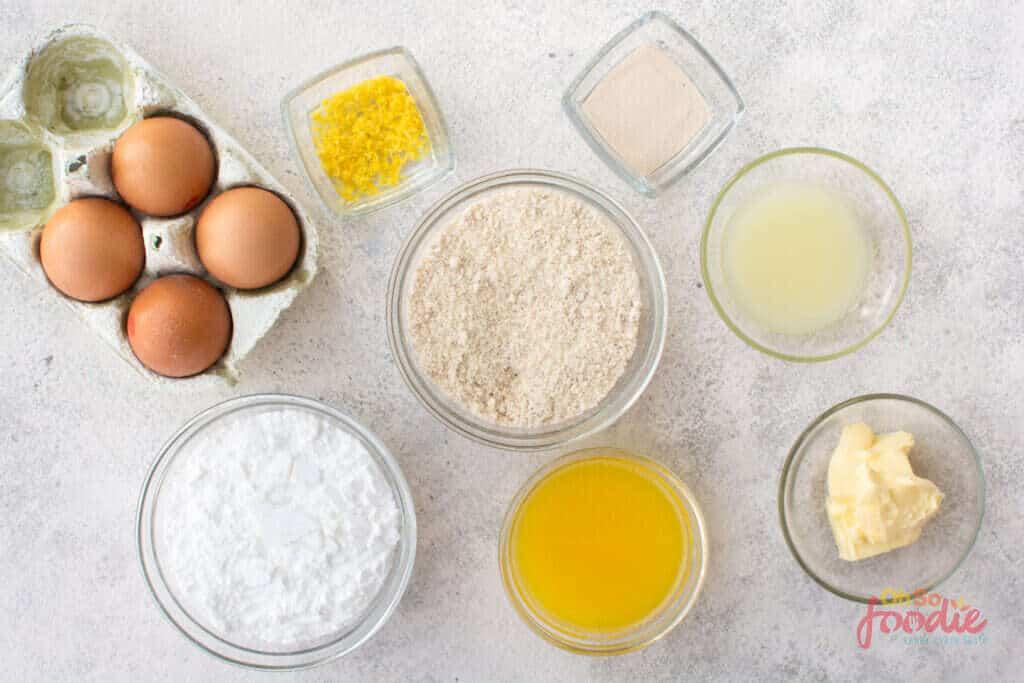 ingredients for Keto Lemon Meringue Pie