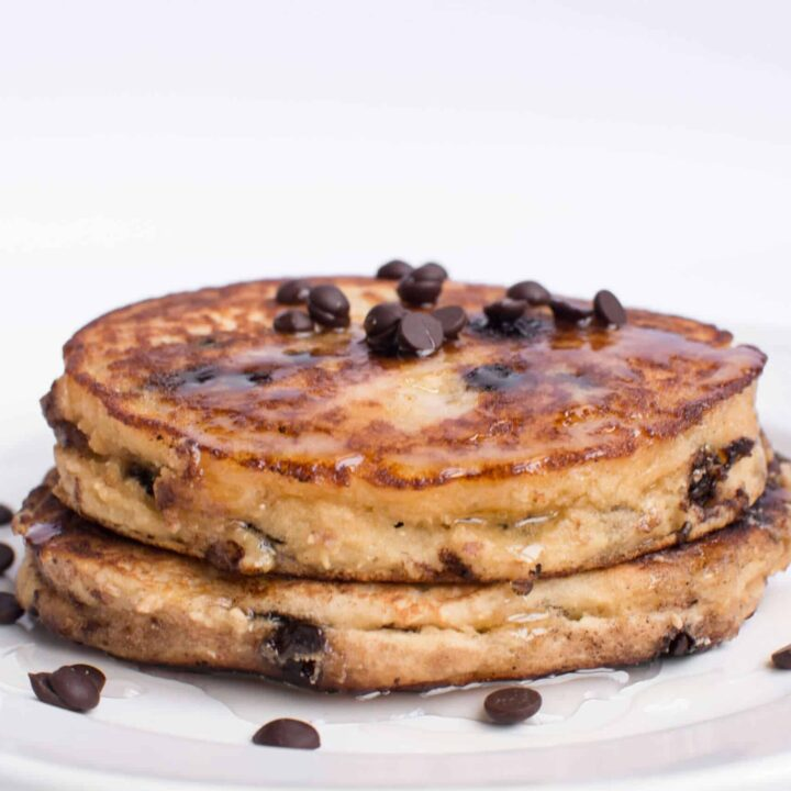 Fluffy Keto Chocolate Chip Pancakes
