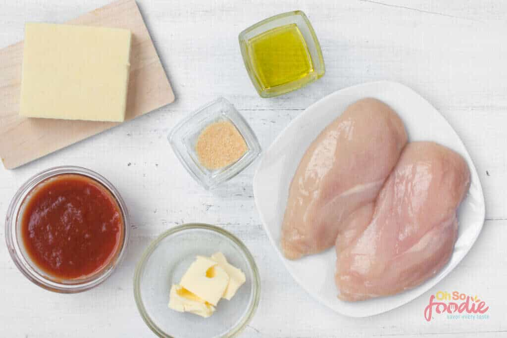 ingredients for buffalo chicken skillet