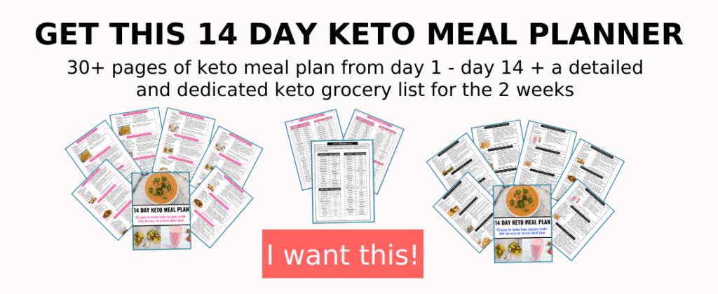 2 week keto meal plan + grocery list