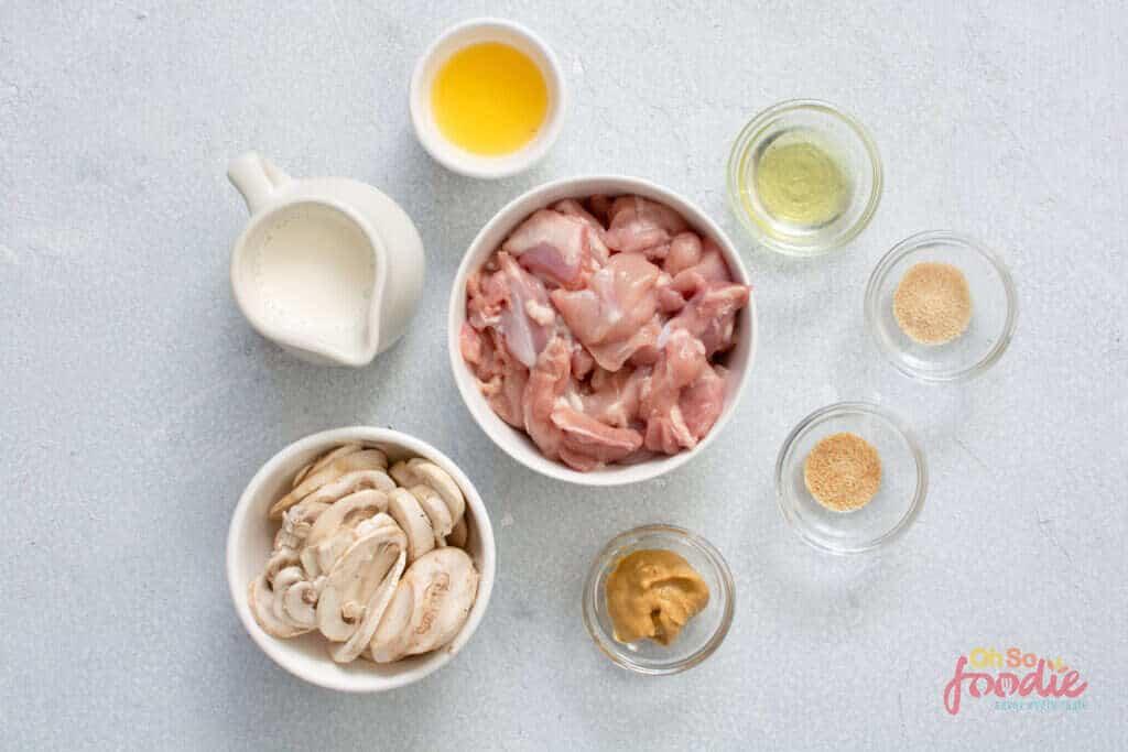 ingredients for keto chicken stroganoff