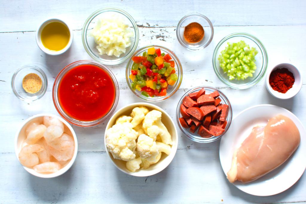 ingredients to make keto jambalaya