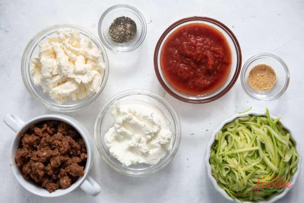 keto lasagna bowl ingredients