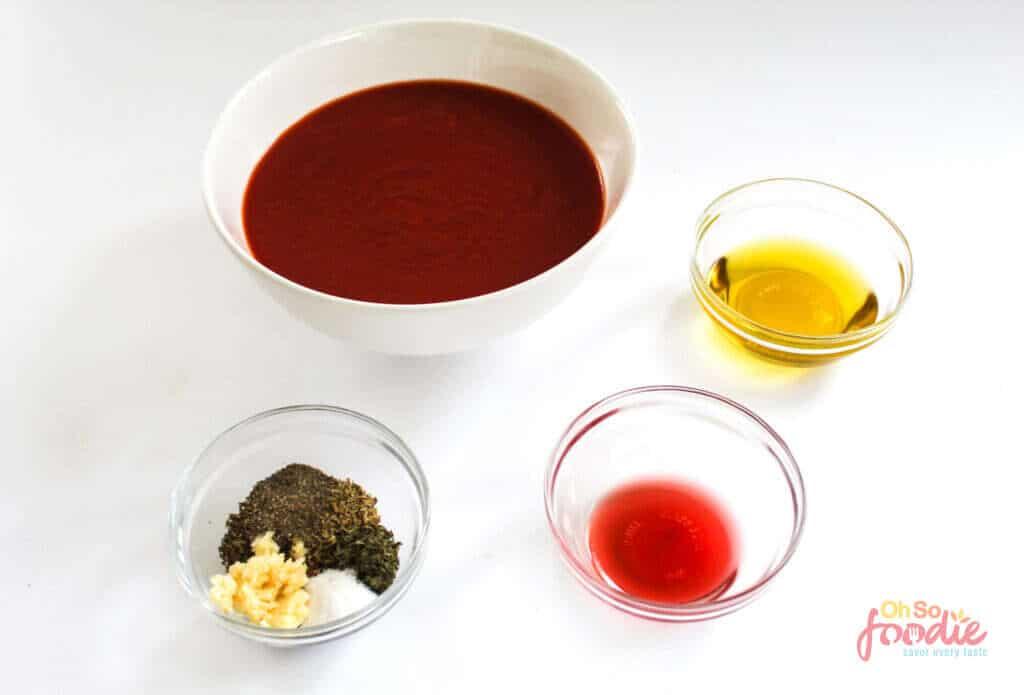 ingredients for sugar free marinara sauce