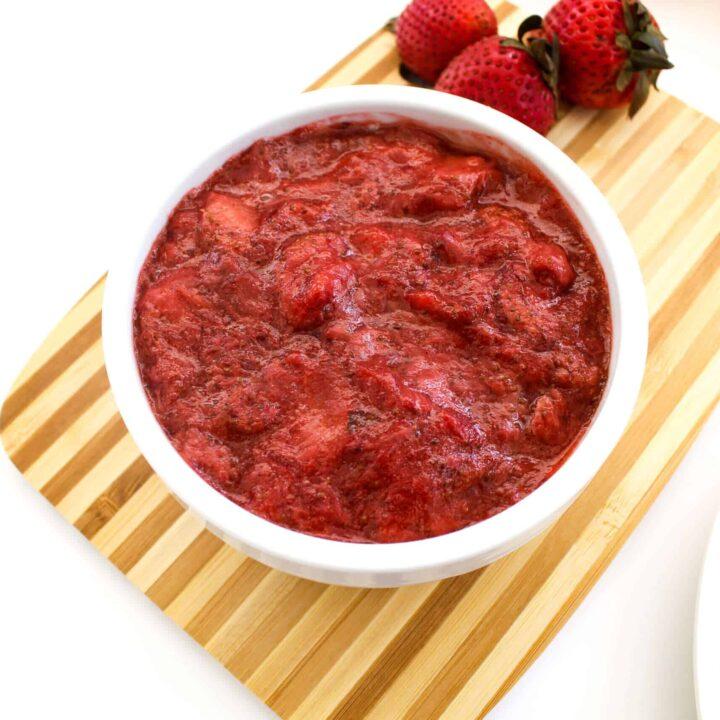 Keto Strawberry Jam - Small Batch Recipe