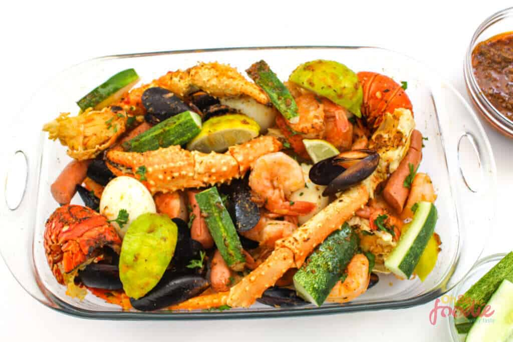seafood boil recipe served