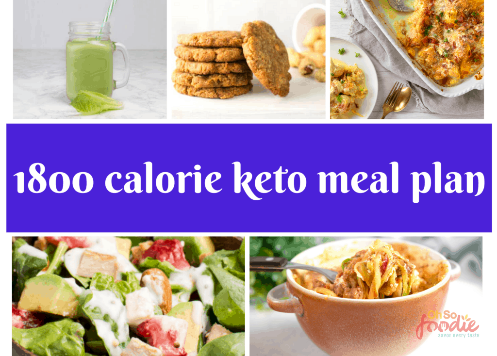 1800 calorie keto meal plan