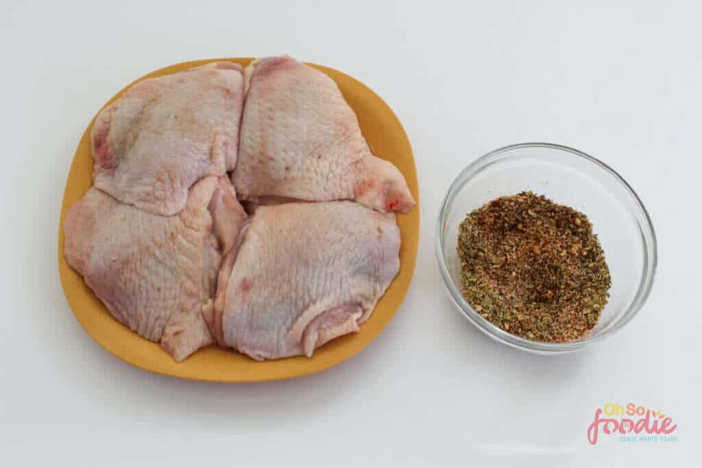 ingredients for air fryer chicken thighs