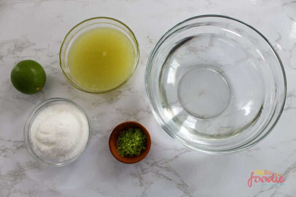ingredients for keto limeade