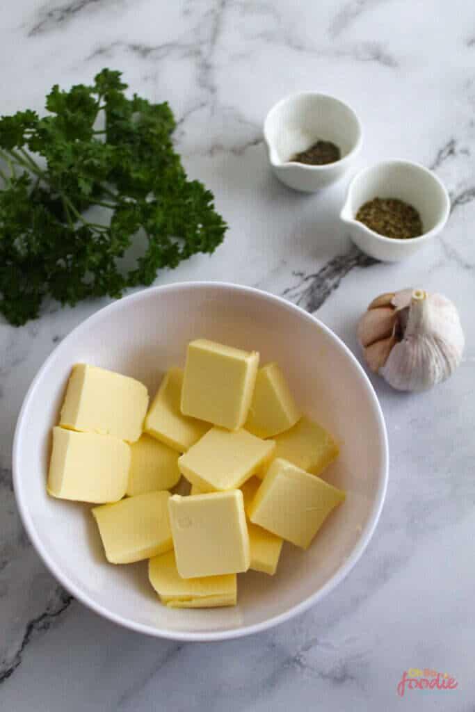 ingredients for garlic butter sauce